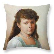 Grand Duchess Anastasia Nikolaevna Of Russia Throw Pillow