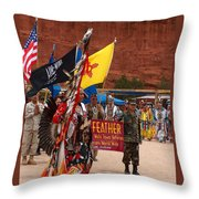 Grand Entry At Star Feather Pow-wow Throw Pillow