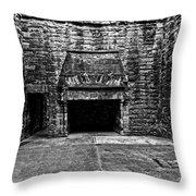 Grand Fireplace Throw Pillow