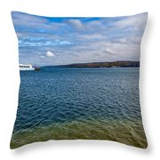Grand Harbor On Lake Superior Throw Pillow