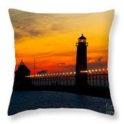 Grand Haven Sunset Throw Pillow