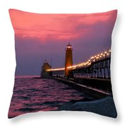 Grand Haven Sunset Throw Pillow