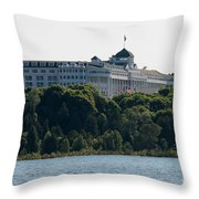 Grand Hotel On Mackinac Island Throw Pillow