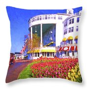 Grand Hotel Tulips Throw Pillow