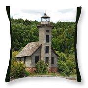 Grand Island Lighthouse Throw Pillow