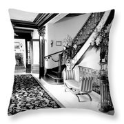 Grand Island Mansion Mosher Ranch 7 B And W Throw Pillow