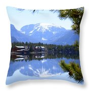 Grand Lake Co Mt Baldy From Shadow Mtn Lake Throw Pillow