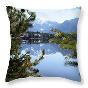 Grand Lake Co Mt Baldy In The Spring Throw Pillow