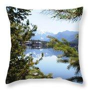 Grand Lake Co Mt Baldy Spring II Throw Pillow