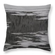 Grand Lake Evergreen Reflection On Ice I Throw Pillow