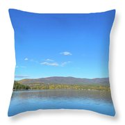 Grand Lake View From Shore Throw Pillow