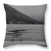 Grand Lake Winter Picnic Throw Pillow