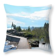 Grand Marais Breakwater Throw Pillow