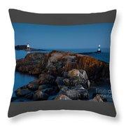Grand Marais Lighthouse Throw Pillow