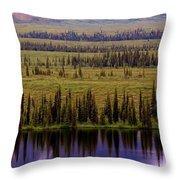Grand Mountain Reflections Throw Pillow