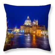 Grand Night On The Garand Canal Throw Pillow