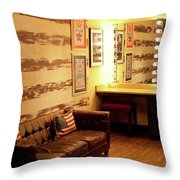 Grand Ole Opry House Backstage Dressing Room #5 In Nashville, Tennessee. Throw Pillow