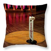 Grand Ole Opry House Stage Flooring - Nashville, Tennessee Throw Pillow