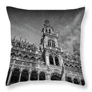 Grand Place Architecture Brussels  Throw Pillow