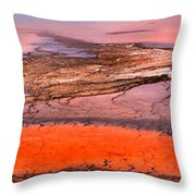 Grand Prismatic Panoramic Abstract Throw Pillow