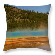 Grand Prismatic Pool Throw Pillow