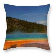 Grand Prismatic Pool II Throw Pillow