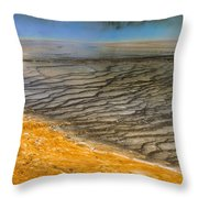 Grand Prismatic Runoff Throw Pillow