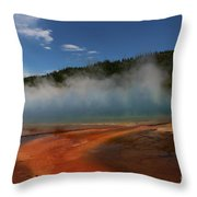 Grand Prismatic Spring At Yellowstone's Midway Geyser Basin Throw Pillow
