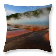 Grand Prismatic Spring Colors Throw Pillow