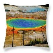 Grand Prismatic Spring Throw Pillow