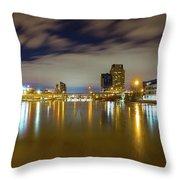 Grand Rapids At Night Throw Pillow