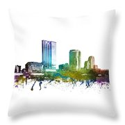 Grand Rapids Cityscape 01 Throw Pillow