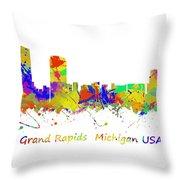 Grand Rapids  Michigan Usa Throw Pillow
