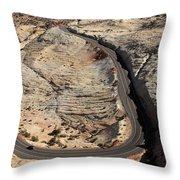 Grand Staircase, Escalante National Monument Throw Pillow
