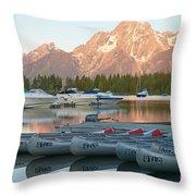 Grand Teton Dawn IIi Throw Pillow