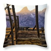 Grand Teton Framed Throw Pillow