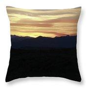 Grand Teton Landscape Sunset Throw Pillow