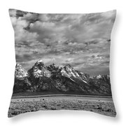 Grand Teton Majesty Throw Pillow by Sandra Bronstein