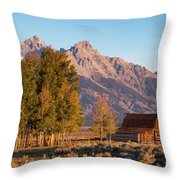 Grand Teton Mountain View Throw Pillow