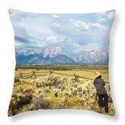 Grand Teton Photograpers Throw Pillow