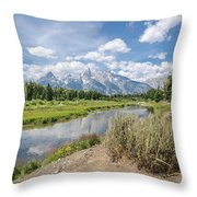 Grand Teton View No.1 Throw Pillow by Margaret Pitcher