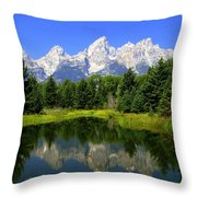 Grand Tetons 2 Horizontal Throw Pillow