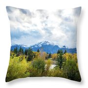 Grand Tetons In The Fall Throw Pillow