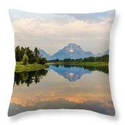 Grand Teton's Reflection Throw Pillow