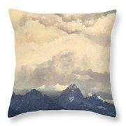 Grand Tetons  Sky Throw Pillow by Suzette Kallen