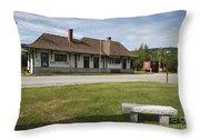 Grand Trunk Railroad - Gorham New Hampshire Throw Pillow