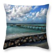 Grand Turk Pier Throw Pillow