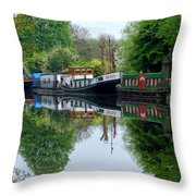 Grand Union Canal Cowley West London Throw Pillow