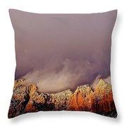 Grand View Of Sedona,arizona Throw Pillow