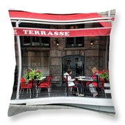 Grande Terrasse In Montreal Throw Pillow